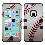 Military Grade Certified TUFF Image Hybrid Case for iPhone 5C - Baseball