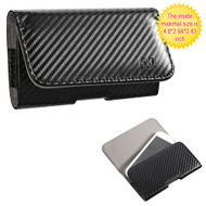 *SALE* Leather Folio Hip Case - Carbon Fiber 27588