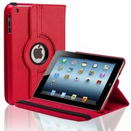 *SALE* Smart Rotary Leather Case for iPad 2, iPad 3 and iPad 4th Generation - Red