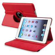 *SALE* 360 Degree Smart Rotary Leather Case for iPad (2018/2017) / iPad Air - Red