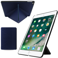 *FINAL SALE* Multi-Angle Smart Leather Hybrid Case for iPad 9.7 (2018/2017) - Navy Blue