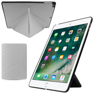 *FINAL SALE* Multi-Angle Smart Leather Hybrid Case for iPad 9.7 (2018/2017) - White