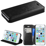 *SALE* Book-Style Leather Folio Case for iPhone 5C - Black