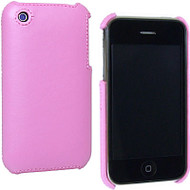 Executive Leather Back Shell Cover for Apple iPhone 3G / iPhone 3G S (Pink)