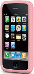 Rugged Silicone Skin for Apple iPhone 3G / iPhone 3G S (Light Pink)