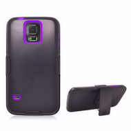 *Sale* Fusion Multi-Layer Hybrid Case with Belt Clip Holster for Samsung Galaxy S5 - Black Purple