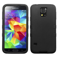 Military Grade Certified TUFF Hybrid Case for Samsung Galaxy S5 - Black