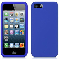 Premium Silicone Skin Cover for iPhone SE / 5S / 5 - Blue