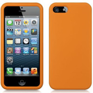Premium Silicone Skin Cover for iPhone SE / 5S / 5 - Orange