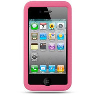 Leather Hard Shell Case for iPhone 4 / 4S - Pink