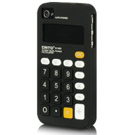 Pocket Calculator Silicone Case for iPhone 4 / 4S - Black