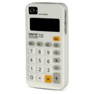 Pocket Calculator Silicone Case for iPhone 4 / 4S - White
