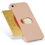 Card Wallet Shell Case for iPhone SE / 5S / 5 - Pink