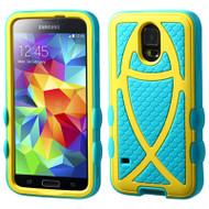 Fish Hybrid Case for Samsung Galaxy S5 - Yellow Teal