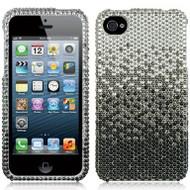 Bling Bling Diamante Casefor iPhone 4 / 4S - Gradient Black