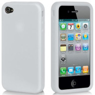 Premium Silicone Skin Cover for iPhone 4 / 4S - Frost Clear