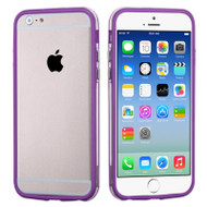 Hybrid Bumper Case for iPhone 6 / 6S - Purple Clear