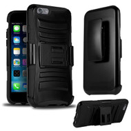 *SALE* Advanced Armor Hybrid Kickstand Case with Holster for iPhone 6 / 6S - Black
