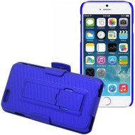 DualStand Shell Case with Holster for iPHone 6 / 6S - Blue