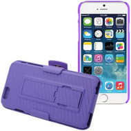 DualStand Shell Case with Holster for iPHone 6 / 6S - Purple