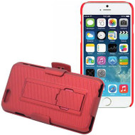 DualStand Shell Case with Holster for iPHone 6 / 6S - Red