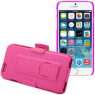 DualStand Shell Case with Holster for iPHone 6 / 6S - Hot Pink