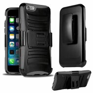 *SALE* Advanced Armor Hybrid Kickstand Case with Holster for iPhone 6 / 6S - Black Grey