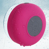Waterproof Suction Cup Bluetooth Wireless Speaker with Hands-Free Speakerphone - Hot Pink