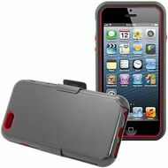 Fusion Multi-Layer Hybrid Case with Holster for iPhone 6 / 6S - Black Red