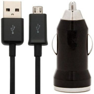 High Performance Mini Car Charger with Micro USB Cable - Black