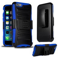 *SALE* Advanced Armor Hybrid Kickstand Case with Holster for iPhone 6 Plus / 6S Plus - Black Blue