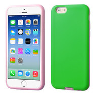 Dual Layer Hybrid Case for iPhone 6 / 6S - Green Pink