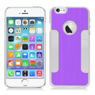 Aluminum Alloy Hybrid Armor Case for iPhone 6 / 6S - Purple Chrome