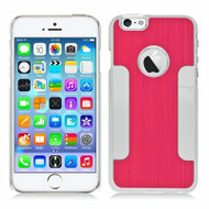 Aluminum Alloy Hybrid Armor Case for iPhone 6 / 6S - Red Chrome