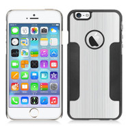 Aluminum Alloy Hybrid Armor Case for iPhone 6 / 6S - Silver Black