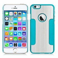 Aluminum Alloy Hybrid Armor Case for iPHone 6 / 6S - Silver Blue