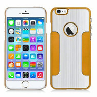 Aluminum Alloy Hybrid Armor Case for iPhone 6 / 6S - Silver Gold