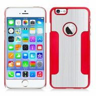 Aluminum Alloy Hybrid Armor Case for iPhone 6 / 6S - Silver Red
