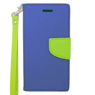 Leather Wallet Shell Case for iPhone 6 / 6S - Navy Blue