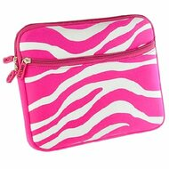 Designer Neoprene Protective Pouch Cover - Zebra Hot Pink