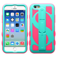 Dollar Hybrid Kickstand Case for iPhone 6 / 6S - Teal Hot Pink