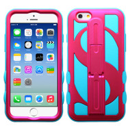 Dollar Hybrid Kickstand Case for iPhone 6 / 6S - Hot Pink Teal