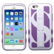 Dollar Hybrid Kickstand Case for iPhone 6 / 6S - White Purple
