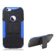 Trac Armor Hybrid Kickstand Case with Holster for iPHone 6 / 6S - Black Blue