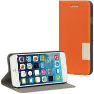 Leather Flip Hybrid Wallet Case for iPhone 6 - Orange