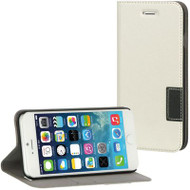 Leather Flip Hybrid Wallet Case for iPhone 6 - White