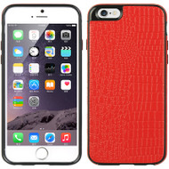 Graphic Rubberized Protective Gel Case for iPhone 6 - Crocodile Red