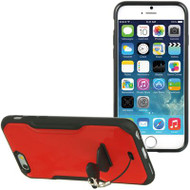 AquaFlex Hybrid Case with Attachable Kickstand for iPhone 6 - Red