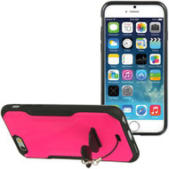 AquaFlex Hybrid Case with Attachable Kickstand for iPhone 6 - Hot Pink