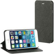 Designer Folio Hybrid Wallet Case for iPhone 6 - Silk Black